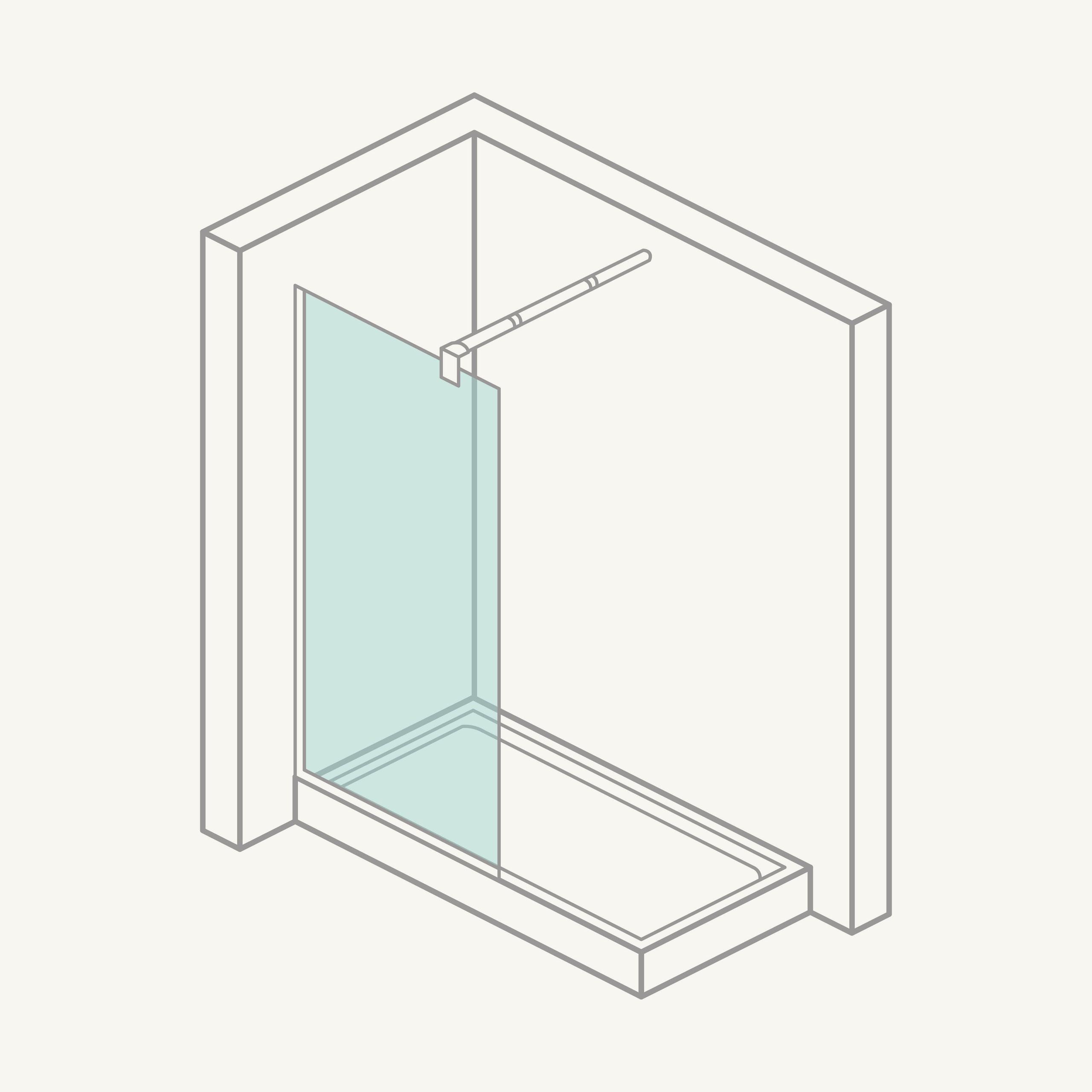 Mampara de ducha: panel fijo