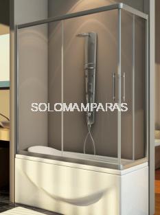 Mampara angular de bañera Thai (2 fijas + 2 correderas) 6 mm