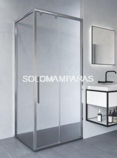 Mampara de ducha Atenas ST (fijo + corredera + lateral fijo)  - DOCCIA - con antical