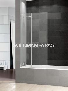 Mampara de bañera Prisma Sport+F -Deyban- (1 fijo + 1 abatible) 6 mm con Antical.