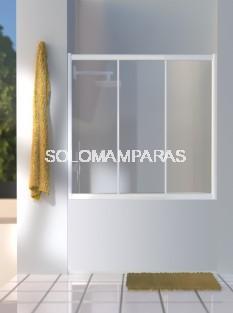 Mampara frontal de bañera Dalí  (3 correderas) vidrio templado y acrílico