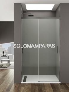 Mampara de ducha -GME- Basic TITANIO (Antical),  (1fija + 1corredera)