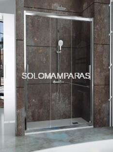 Frontal ducha - Kassandra- City (CT101) 3 hojas correderas, transparente (antical Easy Clean)