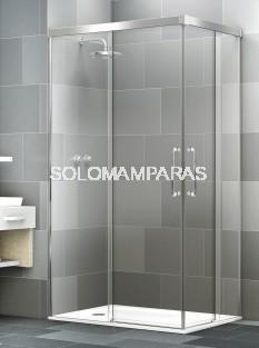 Mampara angular de ducha Elba Extra 6mm -Deyban- (2 fijas + 2 correderas) antical
