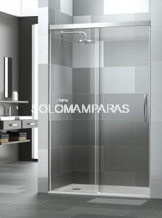 Mampara de ducha Elba Extra -Deyban- (1 fija + 1 corredera) con antical