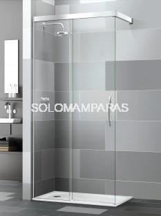 Mampara de ducha Elba Extra Sport (1 fija + 1 corredera) con antical
