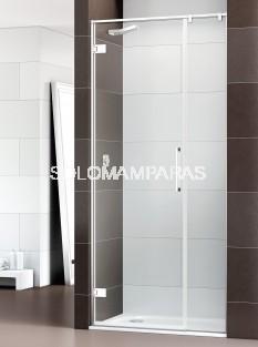 Mampara de ducha Selecta -Deyban- (1 puerta abatible + 1 fijo)  8 mm (antical)