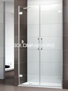 Mampara de ducha Selecta -Deyban- (2 abatibles) + lateral fijo 8 mm (antical)