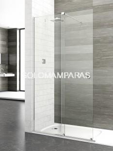 Mampara de ducha London Sport -Deyban- 1 fijo + 1 corredera (acero) con antical