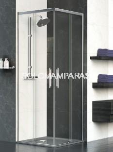 Mampara angular de ducha Venecia -Deyban- 2 fijas + 2 correderas (antical)