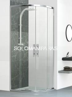 Mampara de ducha curva Venecia -Deyban- 2 fijas + 2 correderas (antical)