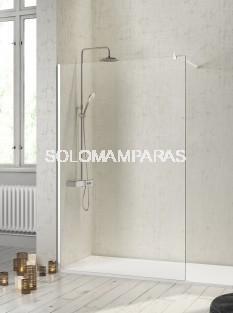 Fijo de ducha mampara -Kassandra- Fresh (FR603) 8 mm y perfilería blanca (antical Easy Clean)