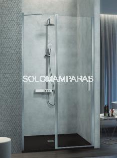 Mampara de ducha -Kassandra- Nardi (NA503) (fijo frontal + puerta abatible + perfil de cierre) Transparente (Antical Easy Clean)