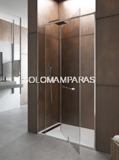 Mampara de ducha Giro 360º -GME- (1 fijo + 1 puerta giratoria)