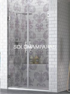 Mampara de ducha Yuruá 2 hojas abatibles, 6 mm y 8 mm