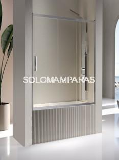 Mampara de bañera - Kassandra- Kaarol (1 fija + 2 correderas) 6 mm (antical Easy Clean)