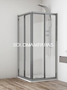 Angular de ducha Madeira (2 fijas + 2 correderas) vidrio templado