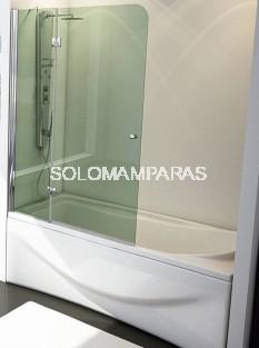 Mampara de bañera Tíbet 1 fijo + 1 abatible 6 mm, perfil cromo