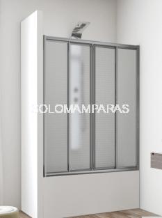 Frontal baño mampara Ankara, 2 fijas + 2 correderas en Acrílico