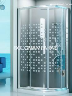 Mampara de ducha semicircular Caroni 6mm