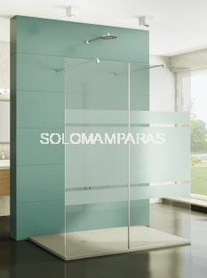 Mampara de ducha Screen XXL -GME- (2 paneles fijos) antical con brazo sujeción
