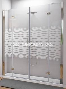 Mampara de ducha Sena (2 fijos + 2 abatibles) 6 mm