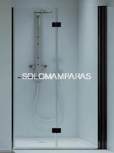 Mampara de ducha plegable Obi 6 mm con perfileria negra