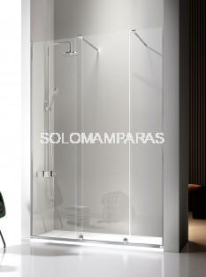 Mampara de ducha -Kassandra- Volare (VO102 + VO703) 2 fijas + 1 corredera, 8 mm (antical Easy Clean)