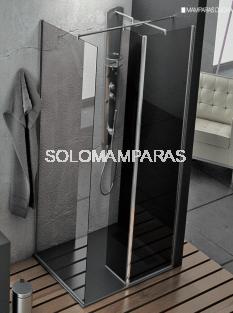 Mampara de ducha Elba (1 frontal fijo + 1 fijo interior + 1 lateral fijo) 6 mm