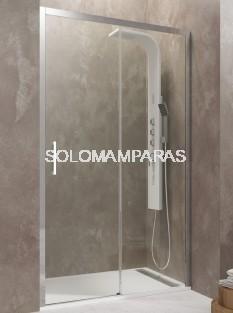 Mampara de ducha Aktual -GME- (1 fija + 1 corredera) transparente y antical