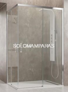 Mampara de ducha Aktual -GME- (Angular 2 fijas + 2 correderas) antical