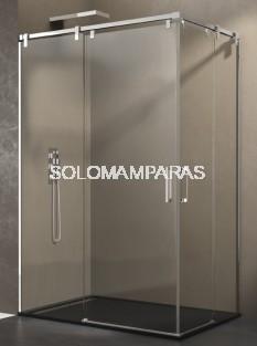 Mampara de ducha Futura -GME- (Angular 2 fijas + 2 correderas) antical