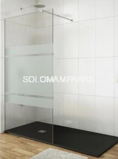 Fijo de ducha Mampara Screen -GME- serigrafía Frost Plus 8mm (antical)