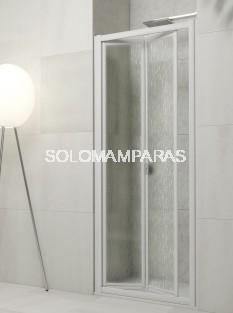 Mampara de ducha plegable Yaguas en vidrio templado y acrílico