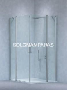 Angular de ducha Kali  (2 fijas + 2 abatibles) 6 mm
