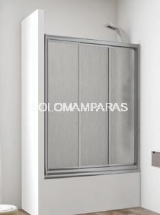 Croquis mampara bañena 3 puertas correderas