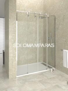 Mampara de ducha Moving Spazio de GME, 2 fijas + 2 correderas