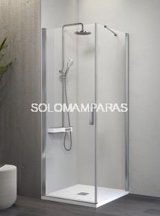 Mampara de ducha -Kassandra- Nardi (NA507) (1 abatible + 1 lateral fijo) Transparente (Antical Easy Clean)