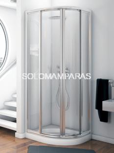 Mampara de ducha semicircular Orinoco vidrio 3 mm