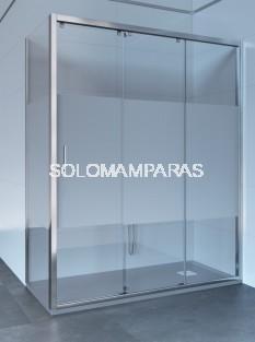 Mampara de ducha ST Rabat - Doccia- 1 fija + 2 correderas con lateral fijo