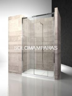 Frontal ducha mampara Serie 8000 C3 - Vismara - 2 fijas + 1 corredera, 8mm