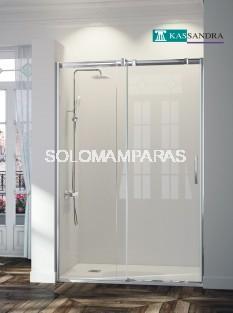 Mampara -Kassandra- Triana (TN102) 1 fija+ 1 corredera transparente (antical Easy Clean)