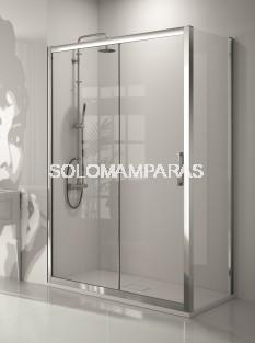 Frontal ducha - Kassandra- serie 300 (TR102+TR103), (1 fija + 1 corredera) + lateral fijo (Antical Easy Clean)
