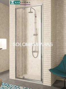 Mampara pivotante -Kassandra- Serie 300 (TR503) 1 fija + 1 abatible (antical Easy Clean)