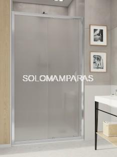 Mampara de ducha F3 de fijo + corredera con vidrio carglass de 6mm y antical