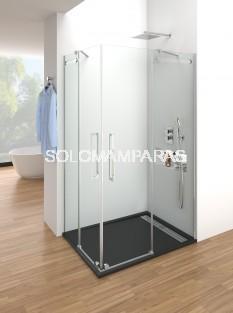 Mampara de ducha Vetrum -GME- (Angular 2 fijas + 2 correderas)