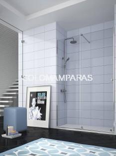 Mampara de ducha -Kassandra- Volare (VO102) 1 fija + 1 corredera, 8 mm (antical Easy Clean)