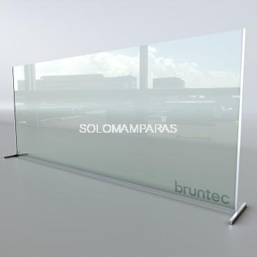 Mampara de cristal 6mm para oficina Protek 1200 (Altura 195cm)