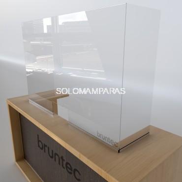 Mampara de vidrio 5mm protectora Con ventana y Laterales Protek 900