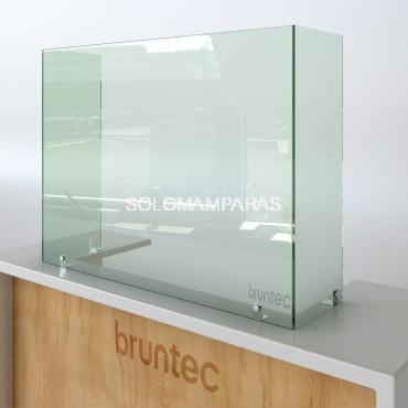Mampara de vidrio 6mm anticontagios con Laterales Protek 400 (Altura 80cm)